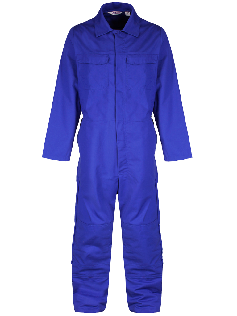 Royal Blue Coverall Front