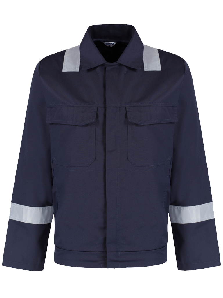 Picture of Alsi Zip Jacket with Reflective Tape - Blue Shadow