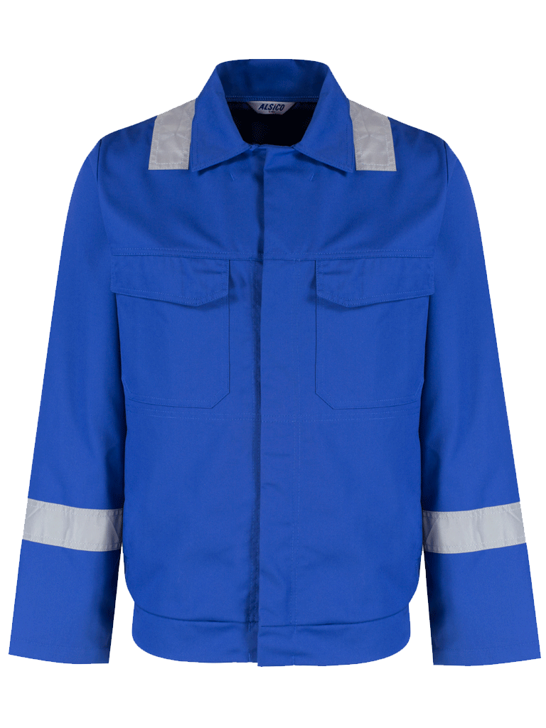 Picture of Alsi Zip Jacket with Reflective Tape - Royal Blue
