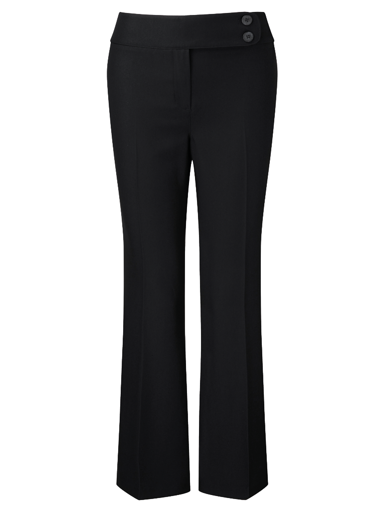 Picture of Easycare Bootcut Trouser - Black