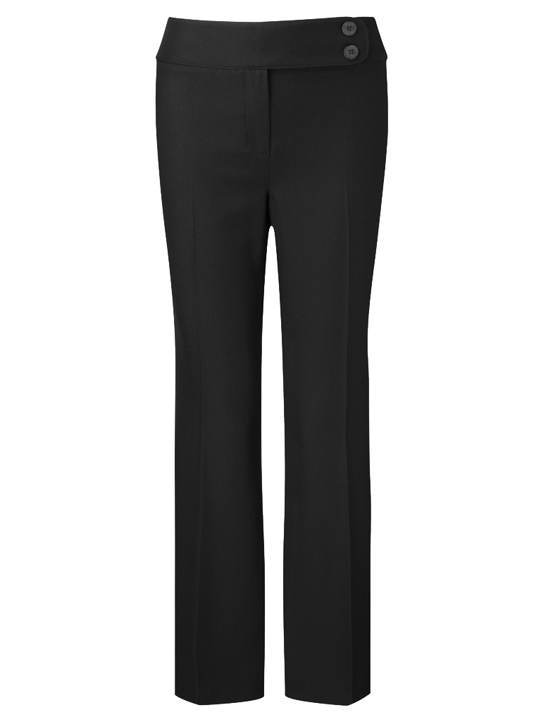 Picture of Easycare Straight Leg Trouser - Black