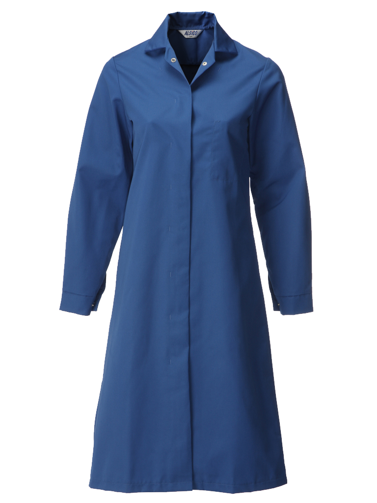 royal blue food trade coat for ladies