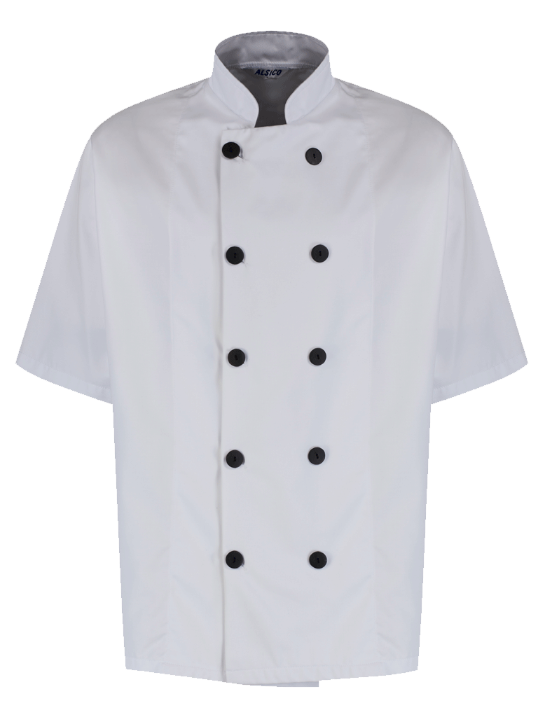 Picture of Unisex Chefs Jacket Black Button