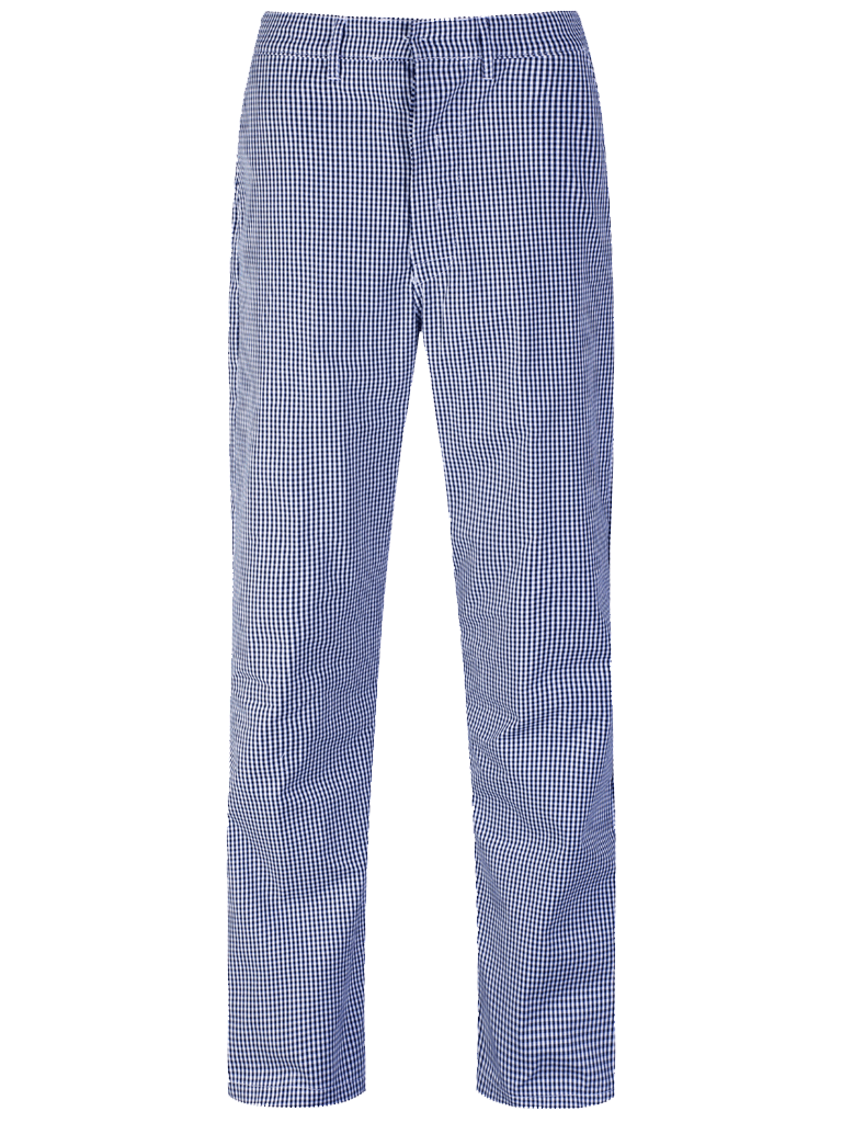 Picture of Unisex Gingham Trouser - Blue/White