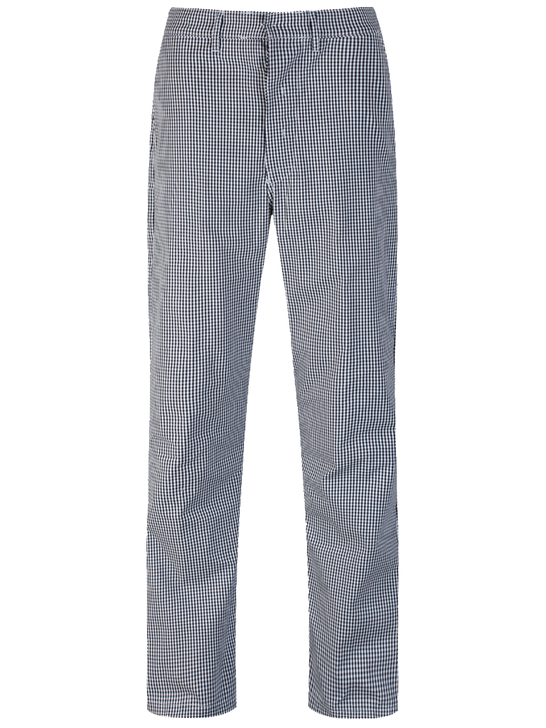 Picture of Unisex Gingham Trouser - Black/White