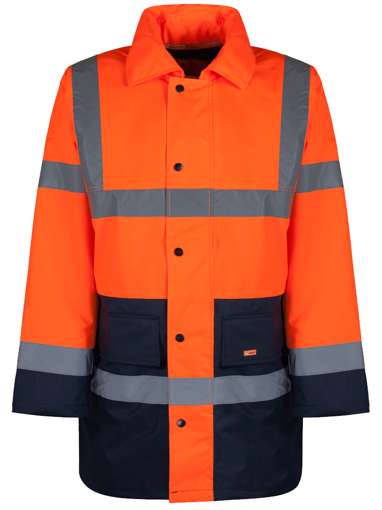 Picture of Two Tone Traffic Jacket - HV Orange/Navy