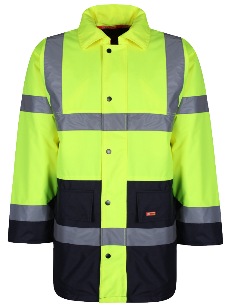 Picture of Two Tone Traffic Jacket - HV Yellow/Navy