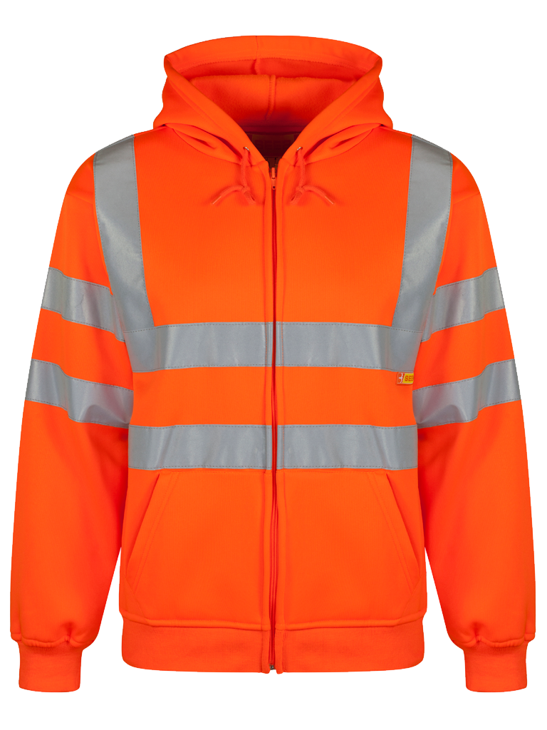 Picture of Hooded Sweatshirt - HV Orange