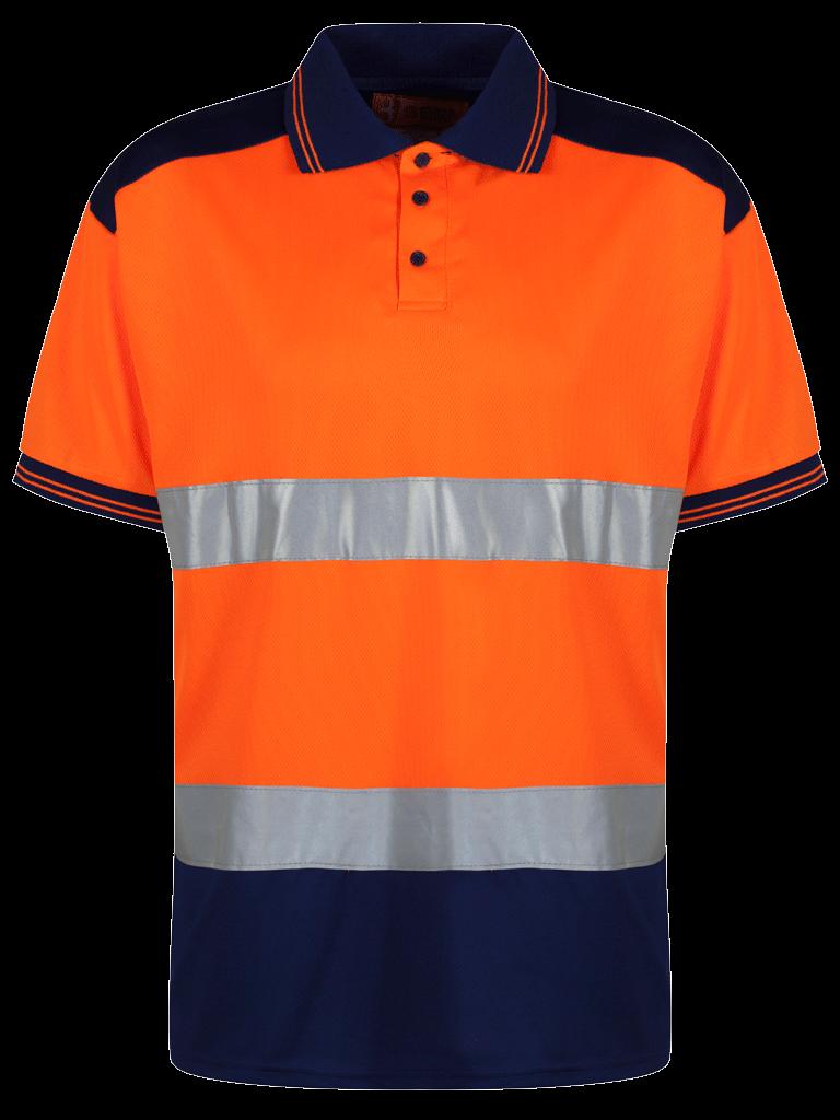 Picture of Two Tone Polo - HV Orange