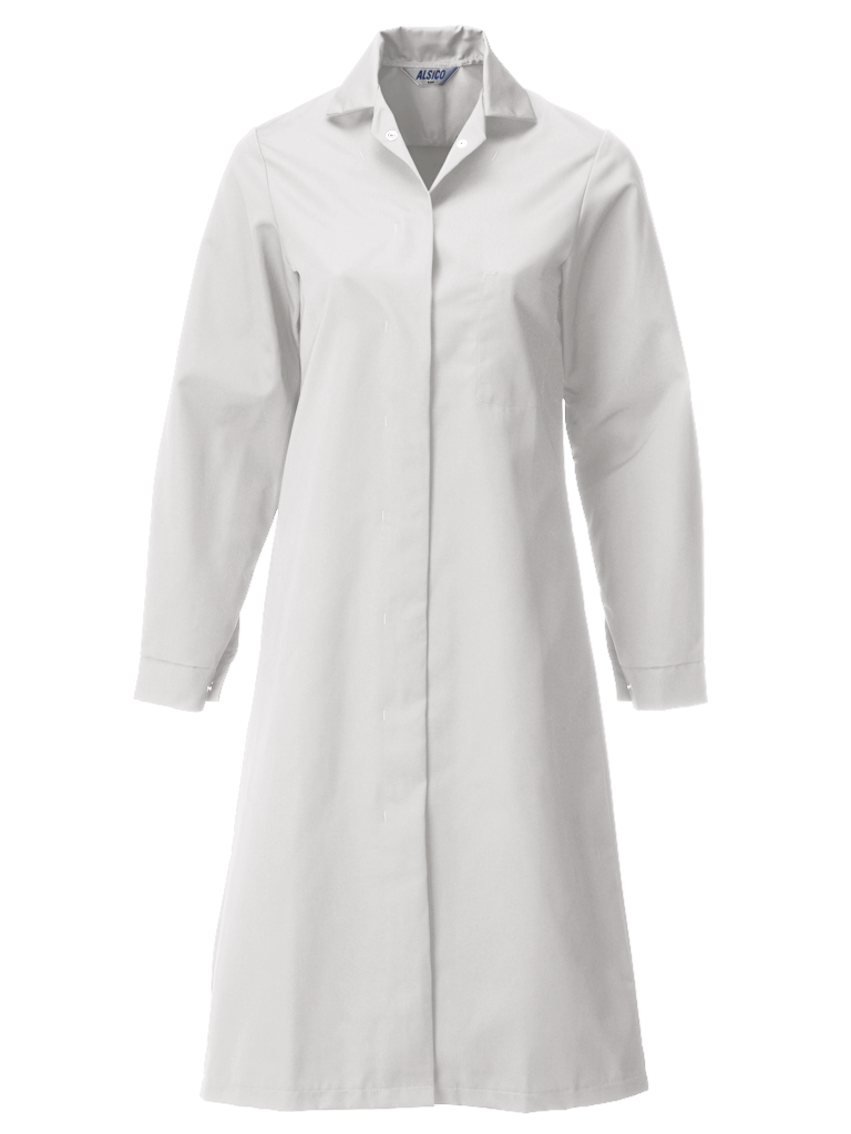 ladies food trade coat in super white