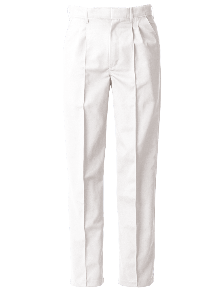 Picture of Food Trade Trouser Half Elasticated Waistband (245gsm) - Super White