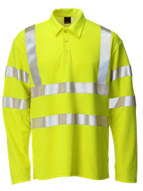 Picture of Hi-Vis Polo Long Sleeve - Yellow