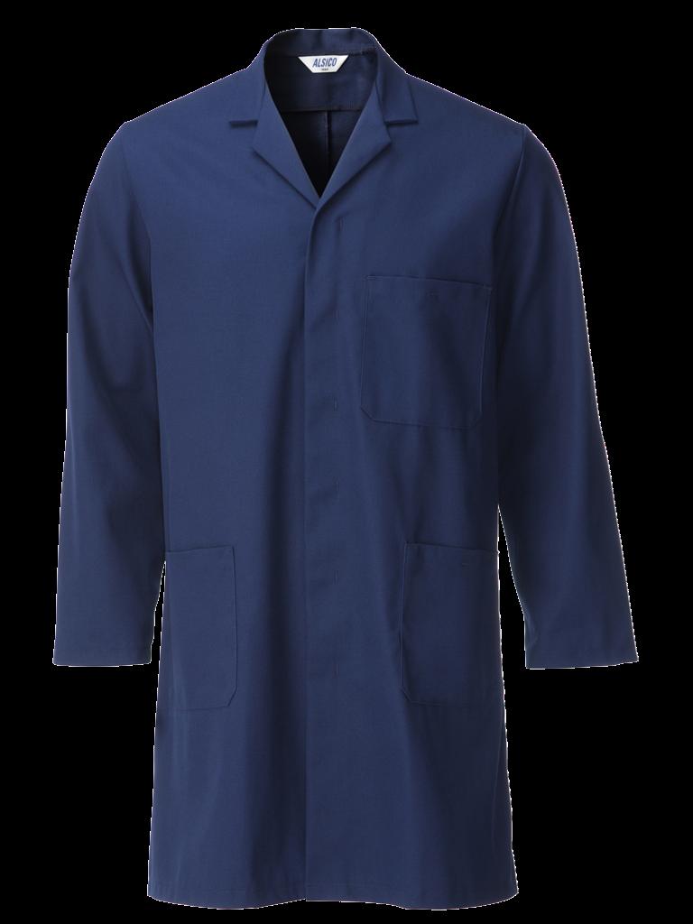 sailor blue cotton rich coat