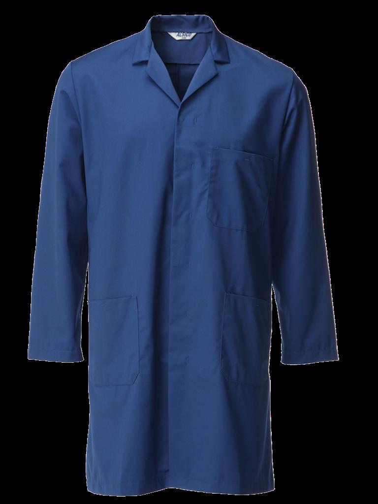cotton rich coat in royal blue