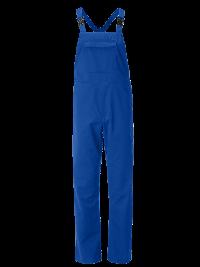 workwear bib brace in royal blue