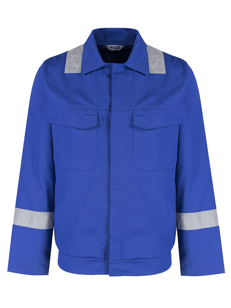 Alsico Stud Jacket Reflective Tape Royal Blue