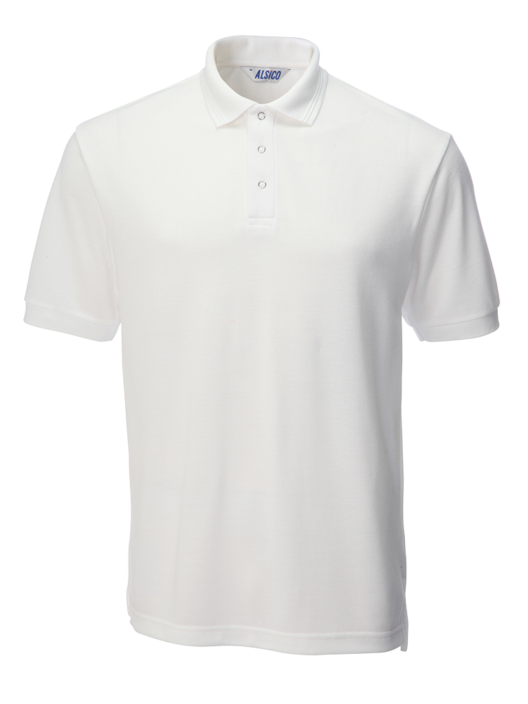 Picture of Industrially Launderable Polo - White