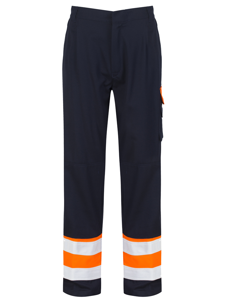Picture of Protal® Trouser - Navy / Hi Vis Orange