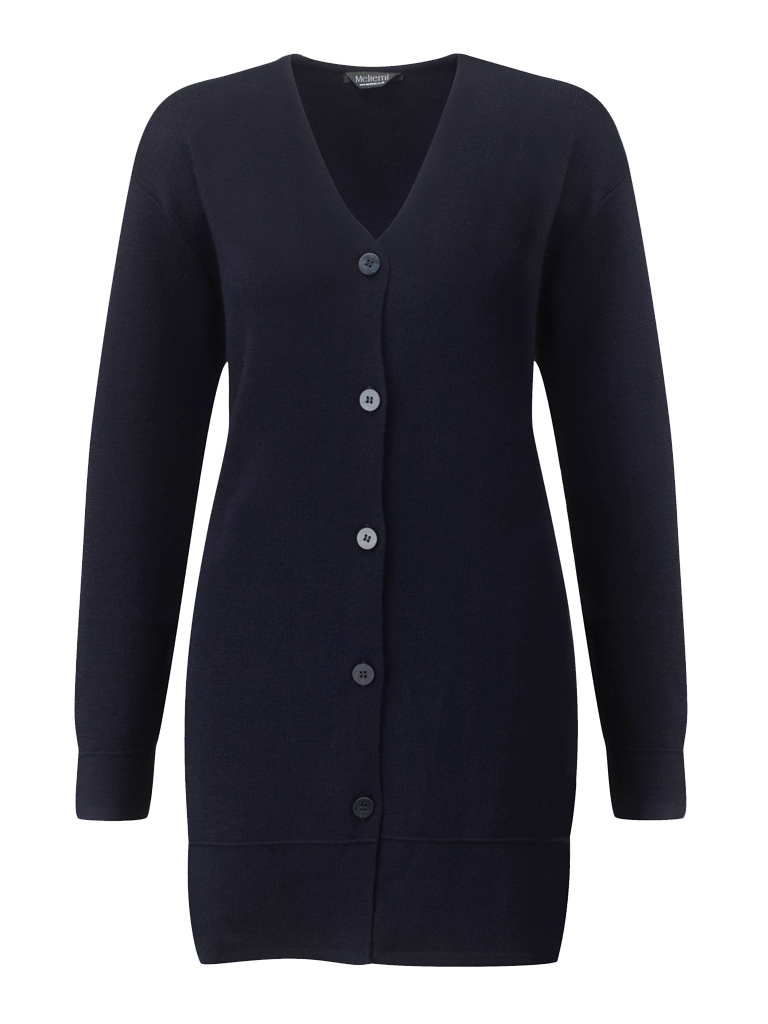 Picture of Longline Cardigan - Navy