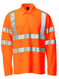 Picture of Hi-Vis Polo Long Sleeve - Orange