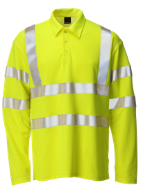 Picture of Hi-Vis FR Long Sleeve Polo - Yellow