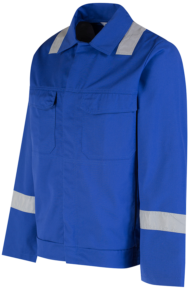 Alsico Stud Jacket Reflective Tape Royal Blue Side