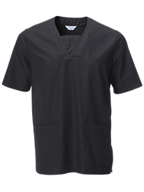 Front Scrub Top In Black