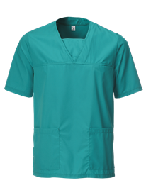 Front of Jade Scrub Top
