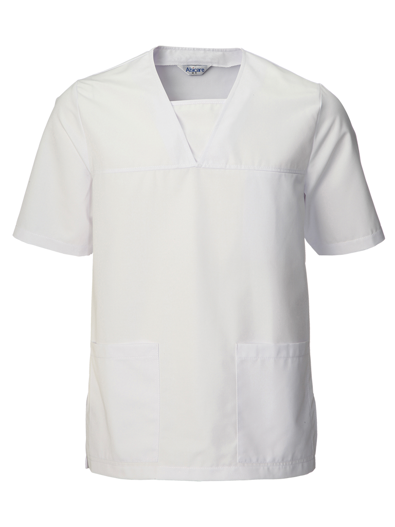 Picture of Unisex Scrub Top (210gsm) - White