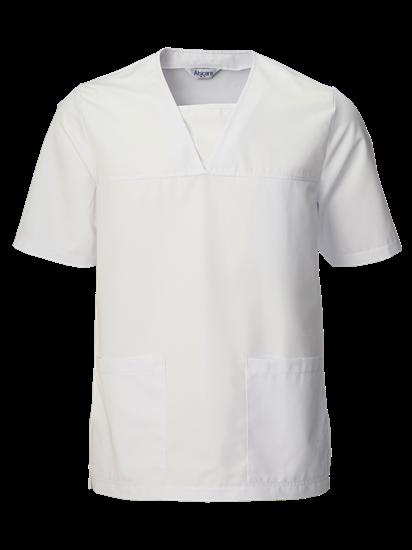 White Medical Tops Scrub Top In White Unisex Alsico