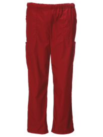 Burgundy - Front Of Scrub Pants