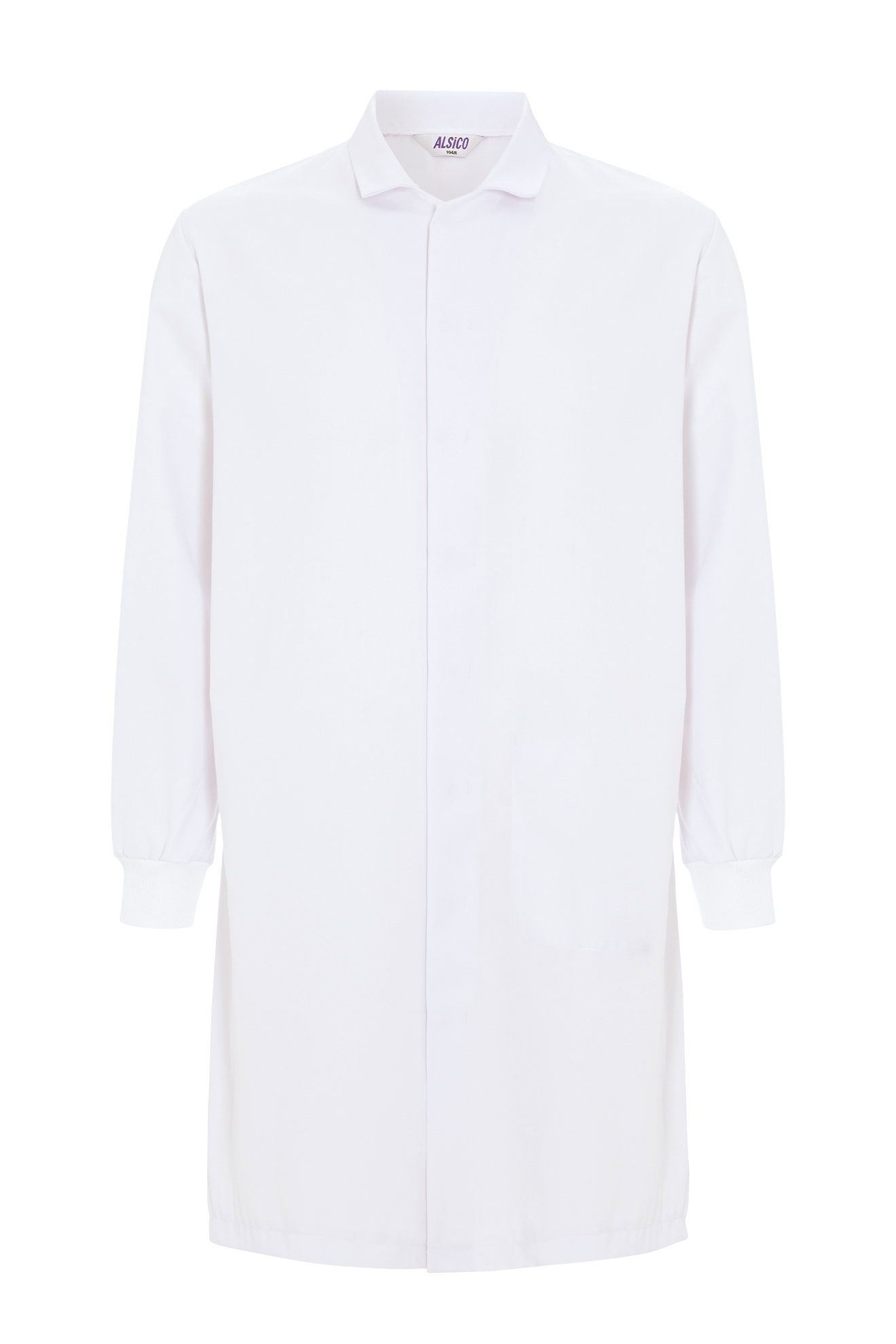 Picture of Food Trade Coat with Knitted Cuffs (245gsm) - Super White