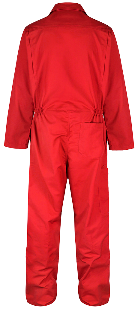 Red overall back