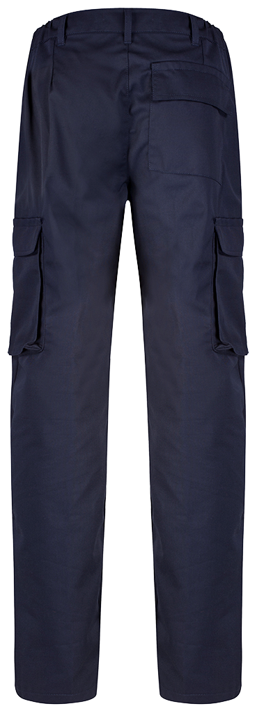 Ladies Cargo Trouser Blue Shadow Navy back
