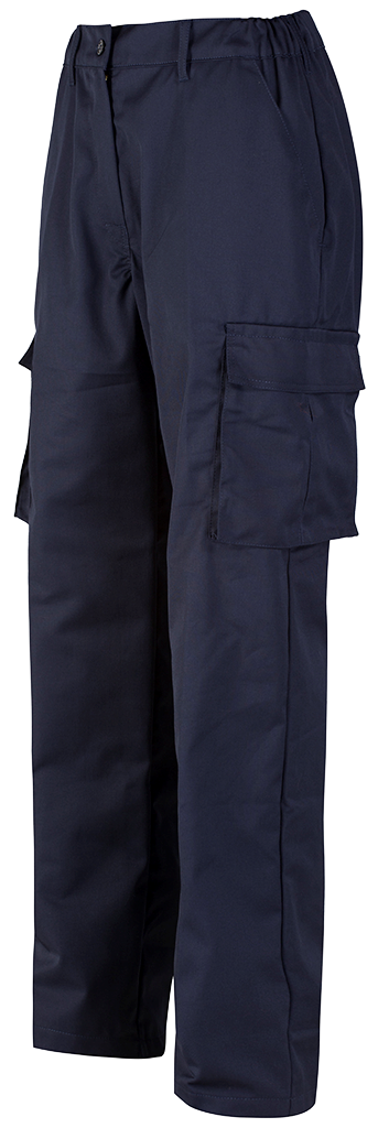 Ladies Cargo Trouser Blue Shadow Navy Left Side