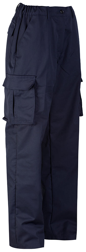 Ladies Cargo Trouser Blue Shadow Navy Right Side