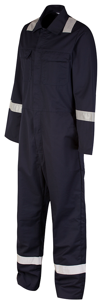 Blue shadow coverall left side