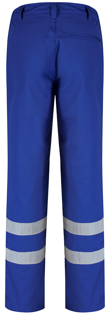 Alsico Trouser with reflective tape Royal Blue