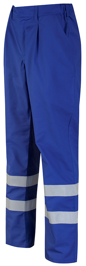 Alsico Trouser with reflective tape Royal Blue Left Side