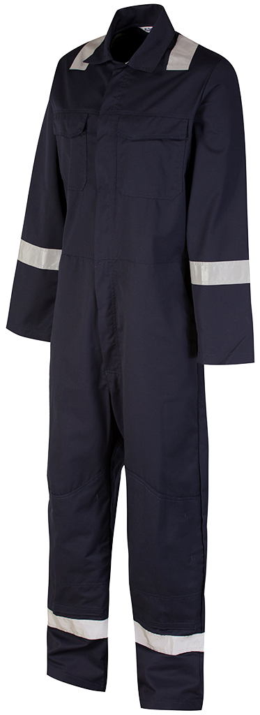 Blue shadow coverall side