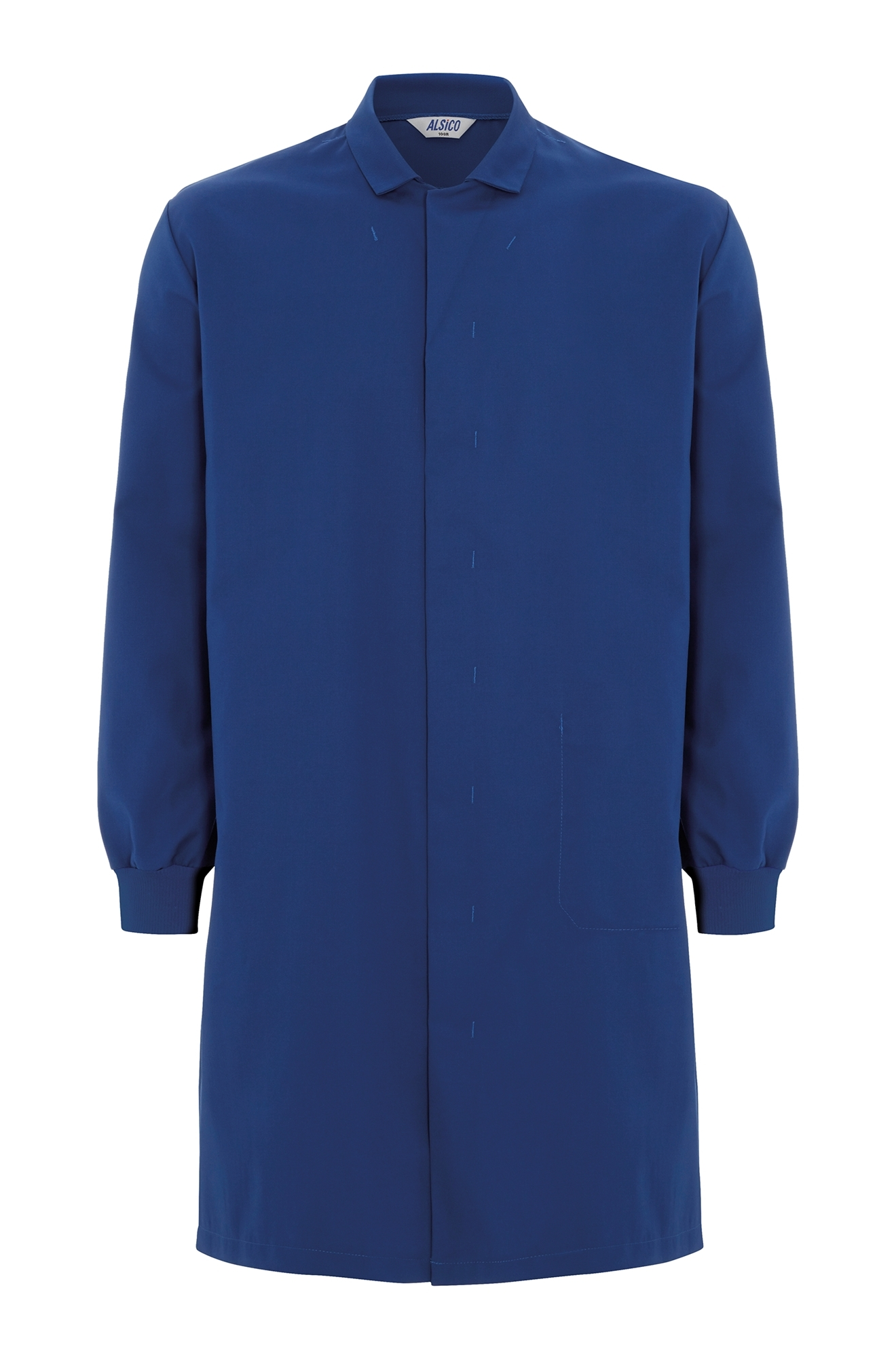 Picture of Food Trade Coat with Knitted Cuffs (245gsm) - Royal Blue
