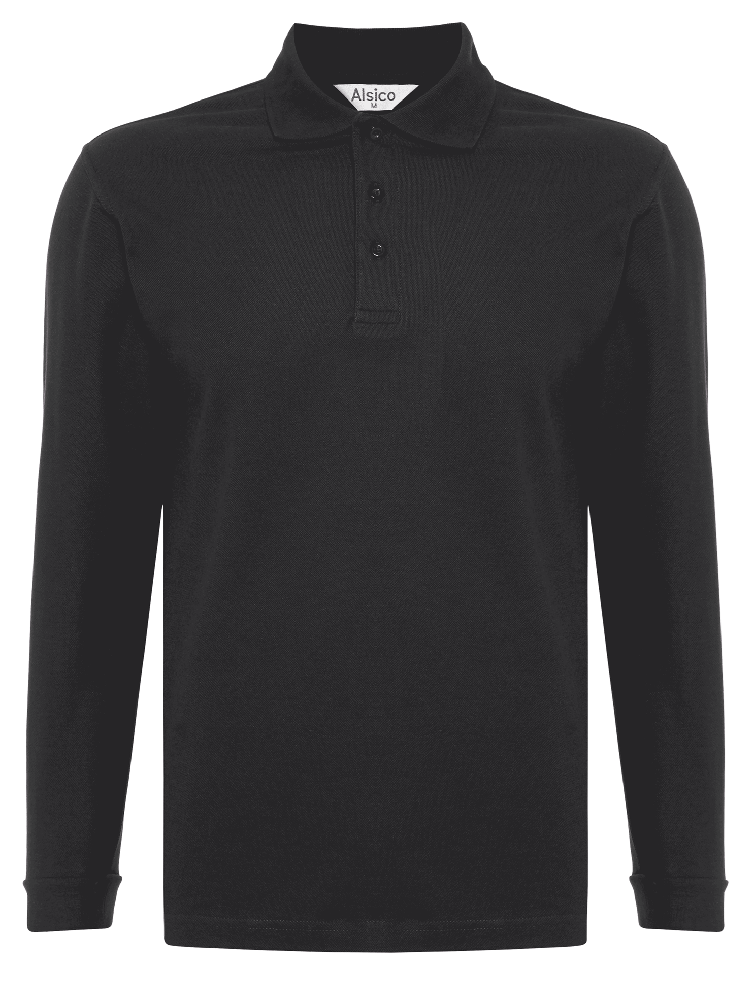 Picture of Long Sleeve Polo Shirt Black