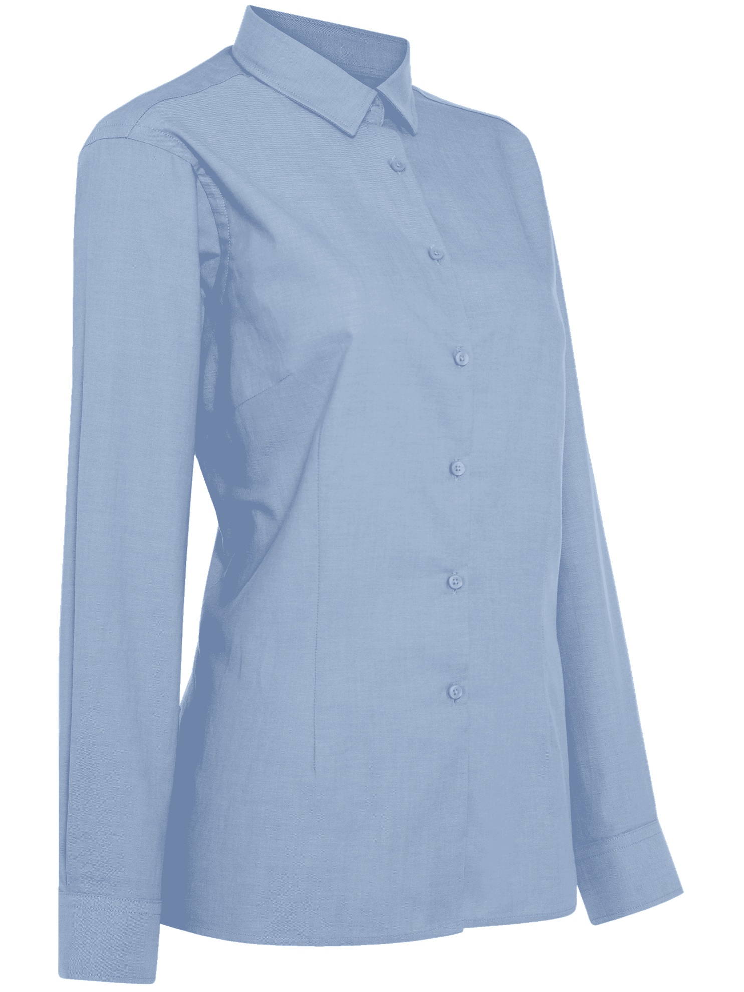 Picture of Ladies Long Sleeve Oxford Shirt - Light Blue