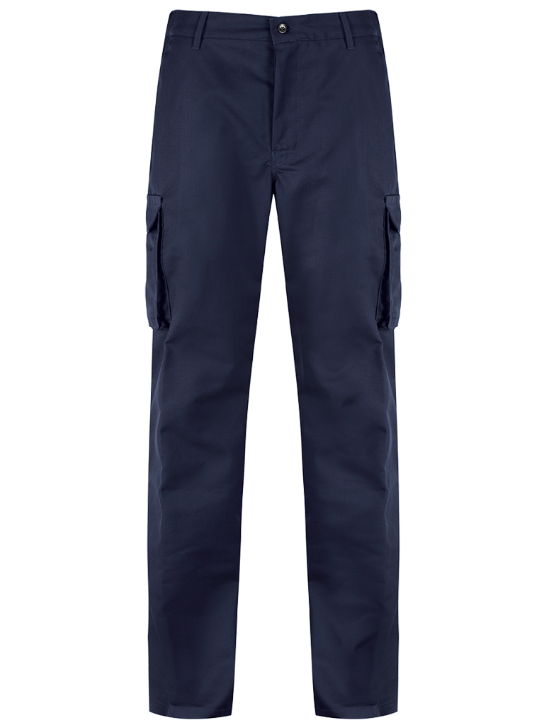 Picture of Alsi Cargo Trouser with Knee Pad Pockets - Blue Shadow