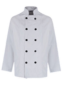 Picture of Unisex Chefs Jacket Black Button Long Sleeve