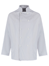 Picture of Unisex Chefs Jacket White Button Long Sleeve