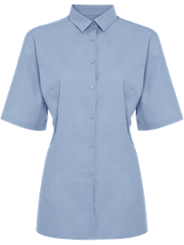 Picture of Ladies Short Sleeve Oxford Shirt