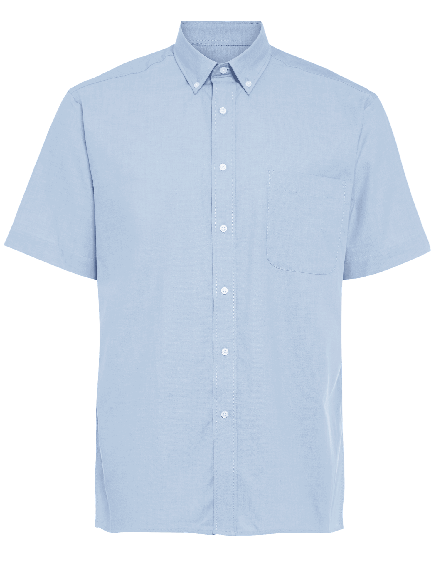 Picture of Short Sleeve Oxford Shirt - Light Blue