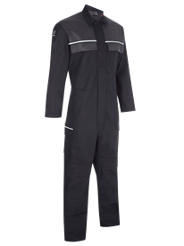 Picture of Flame Retardant Coverall - Black / Charcoal