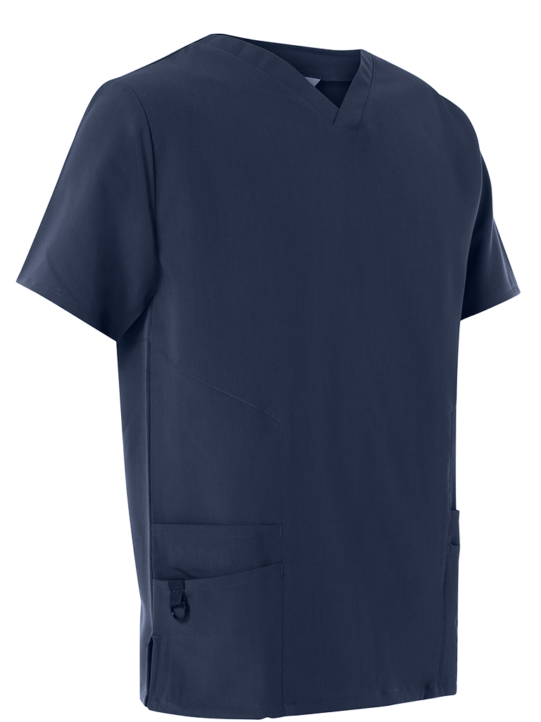 Picture of 4-Way Stretch Male Scrub Tunic - Navy